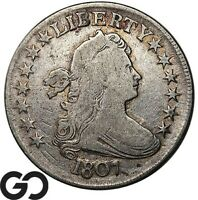 1807 DRAPED BUST HALF DOLLAR SCARCE EARLY COLLECTOR SILVER 5