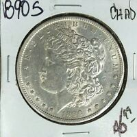 1890-S MORGAN SILVER DOLLAR  CH/AU  COIN