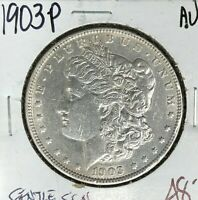 1903-P MORGAN SILVER DOLLAR  AU  GENTLE CLEANING  COIN
