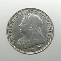 QUEEN VICTORIA SILVER SHILLING____GREAT BRITAIN____MINTED 18