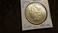 1890 S GEM MORGAN SILVER DOLLAR MS UNC  2