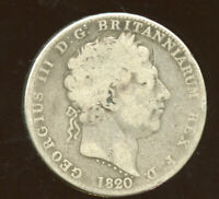 1820 LX GREAT BRITAIN SILVER CROWN LOW GRADE C831