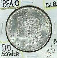 1884-O MORGAN SILVER DOLLAR  CH/BU SCRATCH BEAUTIFUL COIN REF D/D