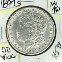 1897-S MORGAN SILVER DOLLAR  EXTRA FINE /AU  TICK  COIN REF D/D