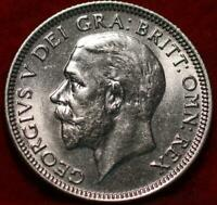 UNCIRCULATED 1933 GREAT BRITAIN SHILLING SILVER FOREIGN COIN