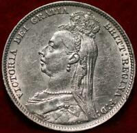 1890 GREAT BRITAIN SHILLING SILVER FOREIGN COIN
