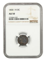1800 H10C NGC AU50 - LOVELY EARLY HALF DIME - EARLY HALF DIMES