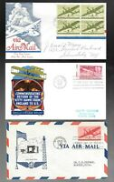 US FDC FIRST DAY COVERS  COLLECTION  1940 'S  LOT OF 15  AIR