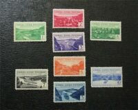 NYSTAMPS US CANAL ZONE STAMP  120 127 MINT OG H $30   M28X11