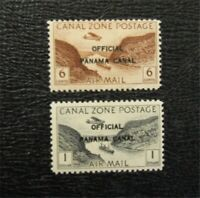 NYSTAMPS US CANAL ZONE STAMP  CO7 CO14 MINT OG NH $33   M28X