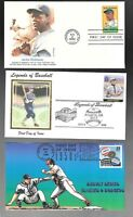 US FDC FIRST DAY COVERS  BASEBALL RELATED MIXED   LOT OF 10