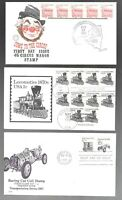 US FDC FIRST DAY COVERS COLLECTION TRANSPORTATION COILS LOT