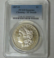 PCGS EXTRA FINE  DETAIL 1897-O MORGAN SILVER DOLLAR NEW ORLEANS MINT
