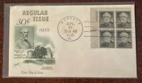 1049 ROBERT E. LEE FIRST DAY COVER WITH PLATE BLOCK 25252