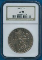 1897 O NGC EXTRA FINE 45 MORGAN SILVER DOLLAR $1 US MINT  KEY DATE COIN 1897-O EXTRA FINE -45