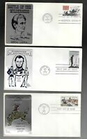US FDC FIRST DAY COVERS  COLLECTION BY SARZIN WITH METAL CAC