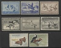 DUCK STAMP LOT OF SEVEN DIFFERENT