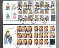US FDC FIRST DAY COVERS  CHRISTMAS  LOT OF 10 WITH COMBO OR