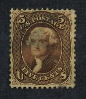 CKSTAMPS: US STAMPS COLLECTION SCOTT76 5C JEFFERSON USED SPO