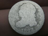 1823/2 CAPPED BUST SILVER DIME- 3 OVER 2