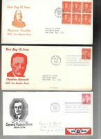 US FDC FIRST DAY COVERS  COLLECTION  ON TRI FOLDED LIGHT CAR