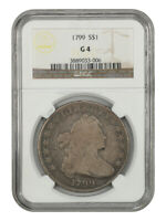 1799 $1 NGC GOOD-04 - GREAT BUST DOLLAR TYPE COIN - BUST SILVER DOLLAR