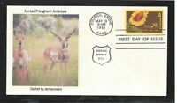 KANSAS STATEHOOD FDC 1961 COUNCIL GROVE KS ONLY ONE MADE PRO