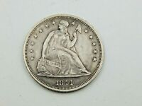1844 SEATED LIBERTY DOLLAR   EXTRA FINE CONDITION HARSHLY CL