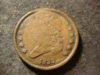 1832 FULL DATE SOLID CLASSIC HEAD HALF CENT  LOW MINTAGE  DATE JCX