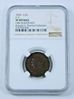 1835 HALF CENT C-2,  FROM DONALD G. PARTRICK COLLECTION  VF DETAILS  NGC