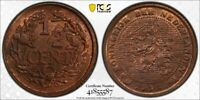 1912 NETHERLANDS 1/2 CENT PCGS MS64 RED BROWN LOTG1149 NICE UNC