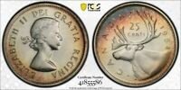 1964 CANADA 25 CENT PCGS PL66  LOTG1153 SILVER