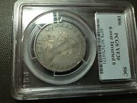 1806/9  6 OVER INVERTED 6  PCGS VF-30  EARLY DRAPED BUST HALF DOLLAR