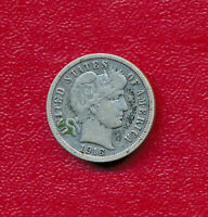 1916 BARBER SILVER DIME LY CIRCULATED SHOWS A FULL LIBERTY FREE SHIP