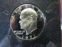 1971 S  U.S. EISENHOWER SILVER DOLLAR COIN  GORGEOUS PROOF SILVER IKE DOLLAR