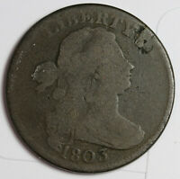 1803 LARGE CENT.  S-249 .1/00 OVER1/000 FRACTION VARIETY REVERSE.  GOOD.  161022