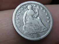 1850 P SEATED LIBERTY HALF DIME- FINE DETAILS