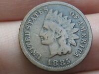 1885 INDIAN HEAD CENT PENNY- VG DETAILS