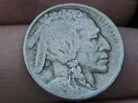1913 P BUFFALO NICKEL 5 CENT PIECE- TYPE 2 T2, VF DETAILS, PARTIAL HORN