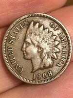 1908 P INDIAN HEAD CENT PENNY- VF/EXTRA FINE  DETAILS, DIAMOND