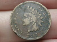 1867 INDIAN HEAD CENT PENNY- FINE DETAILS