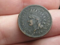 1867 INDIAN HEAD CENT PENNY- FINE/VF DETAILS