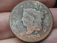 1828 MATRON HEAD LARGE CENT PENNY- LARGE NARROW DATE, GOOD DETAILS