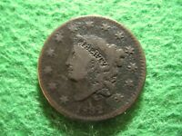 1832 CORONET HEAD LARGE CENT  -  CIRCULATED - SOME CORROSION