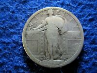 1917 S TYPE I STANDING LIBERTY SILVER QUARTER