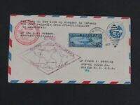 NYSTAMPS OLD US STAMP C15 USED ON ZEPPELIN FLIGHT COVER E27Y