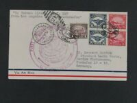 NYSTAMPS OLD US STAMP C5 C6 PAIR USED ON ZEPPELIN FLIGHT COV