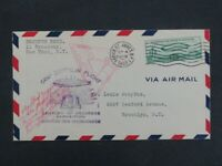 NYSTAMPS OLD US AIR MAIL STAMP C18 USED ON ZEPPELIN FLIGHT C