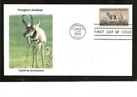PRONGHORN ANTELOPE FDC 1956 GUNNISON COLORADO ONLY ONE MADE