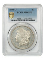 1894-O $1 PCGS MINT STATE 61 PL - BETTER DATE FROM NEW ORLEANS - MORGAN SILVER DOLLAR